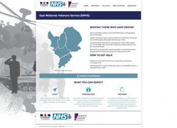East Midlands Veteran Service Website