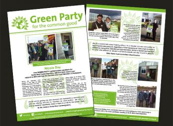 Green Party Political Leaflet